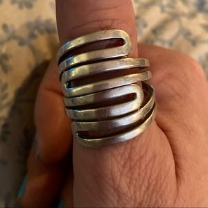 Jewelry - Solid Sterling Silver Retro ring